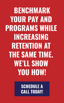 Benchmark your pay and programs while increasing retention at the same time. We'll show you how!